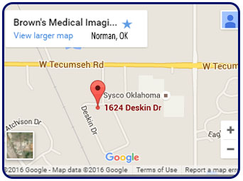 Map and Directions to Browns Medical Imaging in Norman, OK proudly serving the Oklahoma City area