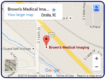 Contact Us Browns Medical Imaging - Omaha-on-us-map