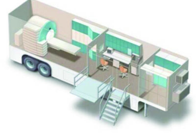 graphic of a medical trailer